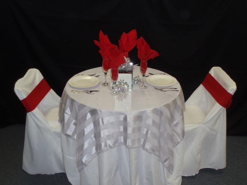 White and Red Table